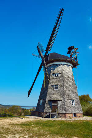 turret: Turret windmill in the village of Benz on the island of Usedom, Germany Stock Photo