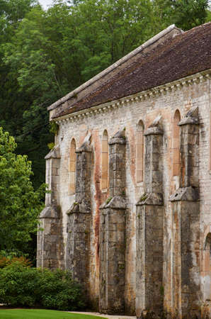 monastery nature: Medieval monastery building in France