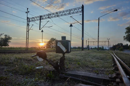 traction: The steering station and tracks with electric traction in Poland