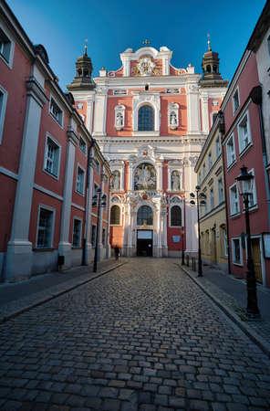 parish: Baroque facade of the parish church in Poznan