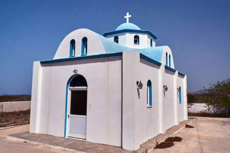Entrance to the Orthodox chapel on the island of Kos in Greece