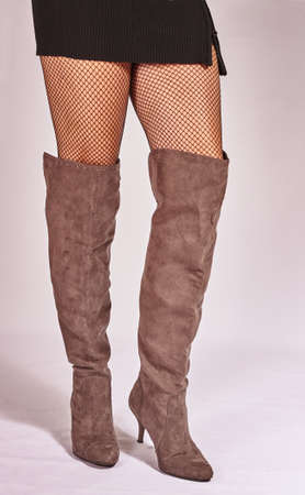 shapely legs: Shapely legs in black stockings