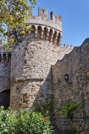 Bastion of the medieval Castle of the Knights in Rhodes Stock Photo - 69412393