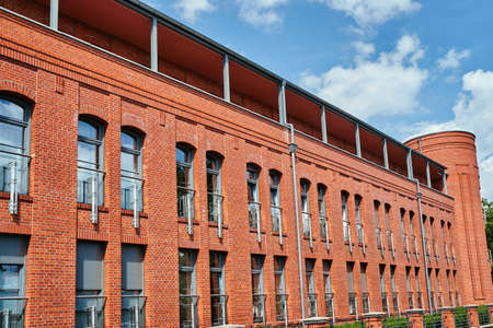 renovated: Restored buildings of the former military barracks in Poznan
