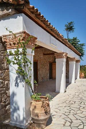 kos: Traditional stone farmhouse on the Greek island of Kos Stock Photo