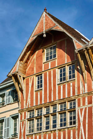 tenement house in the old town of Troyes, France
