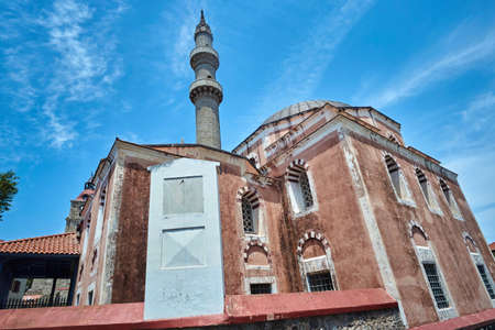 the magnificent: Suleymans Magnificent Mosque in the city of Rhodes Stock Photo