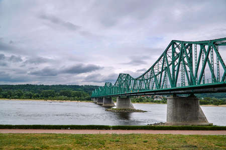 Metal bridge over the Vistula river in Wloclawek