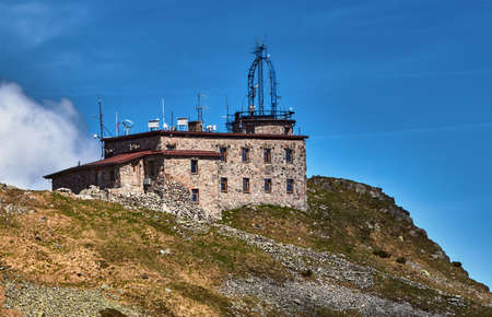 The stone building of a meteorological station in the Tatras in Poland