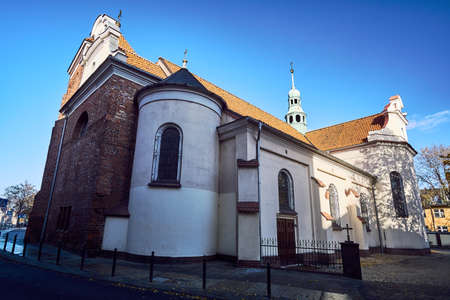 Gothic, medieval church, with tower in Gniezno