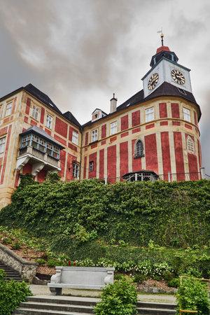 The historic Baroque Janski Vrch castle in the city of Javornik in the Czech Republic Editorial