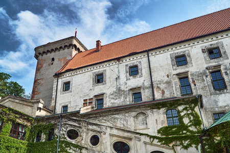 Medieval castle with a tower in Otmuchow in Poland Editorial