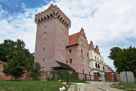 Tower reconstructed royal castle in Poznan