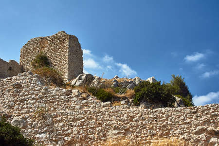 The ruins of the medieval fortress of Knights in Rhodes
