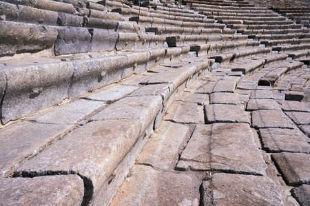Fragment of ancient theater in Bodrum, Turkey Stock Photo