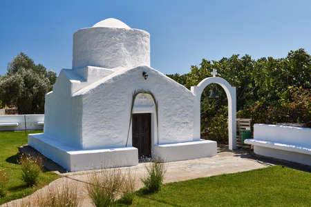 A stone Orthodox  on the island of Rhodes in Greece