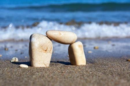 Stones and pebbles on the Greek island of Corfu