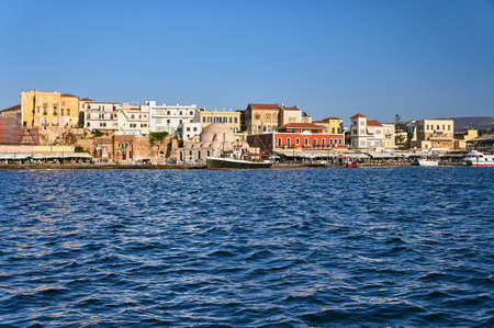 The old port in the city of Chania, Crete Stock Photo