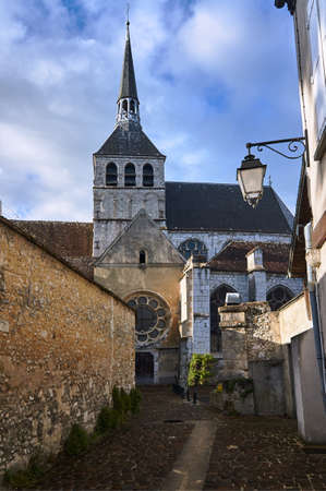 Medieval church and buildings in the city of Provins, France