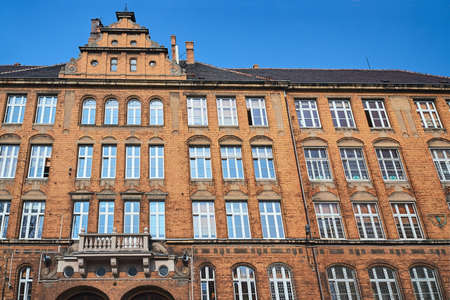 Clinker on the facades of the historic building in Poznan