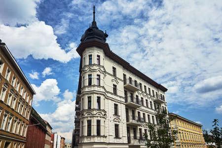 A rebuilt historic, Art Nouveau tenement house in Poznan