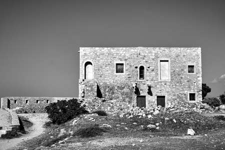 Historic buildings in the Venetian fortress in the city of Rethymnon on the island of Crete