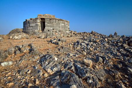 Stone tomb of Kleobulus on the Greek island of Rhodes