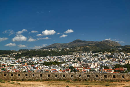 Panorama of the city of Rethymnon on the Greek island of Crete