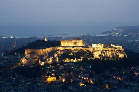 View of Athens and Acropolis from above, Greece photo