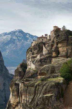 View of the Saint Varlaam monastery in the winter, Meteora, Greece Stock Photo - 12835297