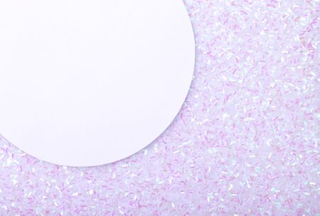 Holographic bright white glitter real texture background with rectangular sequins. Reklamní fotografie
