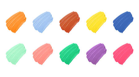 Group bright smear in the form of diagonal strokes isolated on a white background.