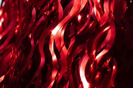 Abstract red background with beautiful bokeh effect. 免版税图像