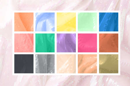 The color palette of the trending colors of 2021.