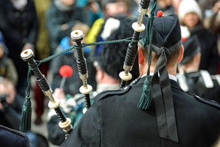 traditionally irish: Irish bagpipers in concert