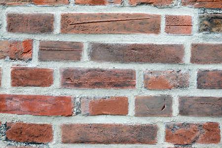 A red brick wall