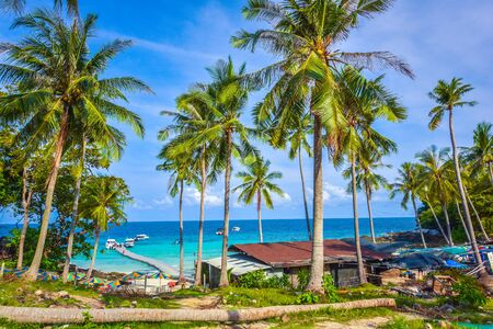 Racha Coral island Landscape, Thailand Zdjęcie Seryjne