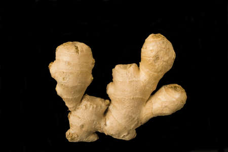 Root of the ginger in isolated Imagens