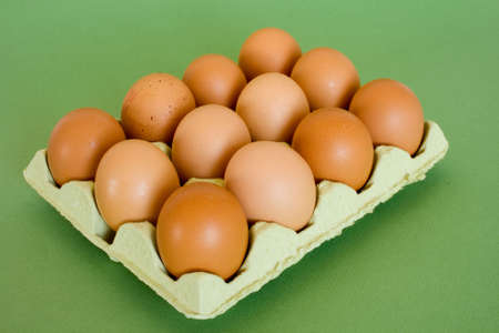 Eggs of hen photo