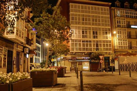 santander: Night in Santander  Cantabria,Spain  16 August 2009