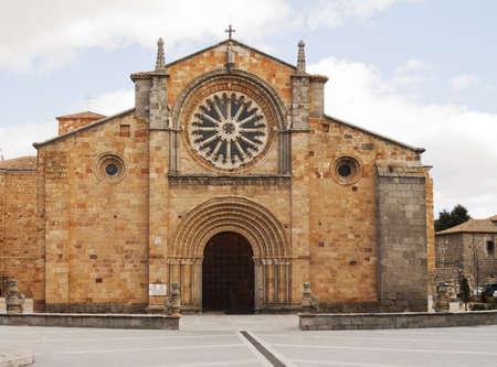 avila: Church of San Pedro in Avila Spain