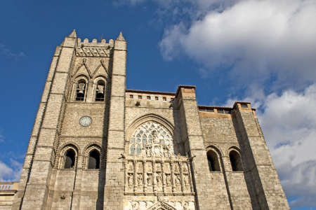The cathholic cathedral in Avila 12th-14th centuries,Spain photo