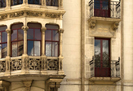 Balconies in Salamanka (Spain) photo