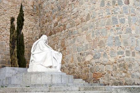 theologians: Monument of Saint Teresa of Avila ( Avila,Spain)