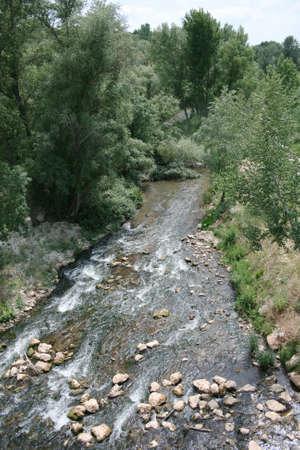 guadalajara: River Henares near from Guadalajara (Spain)