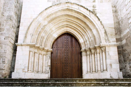 Wooden gate of ancient Cathedral of Valladolid, Castilla y Leon, Spain photo
