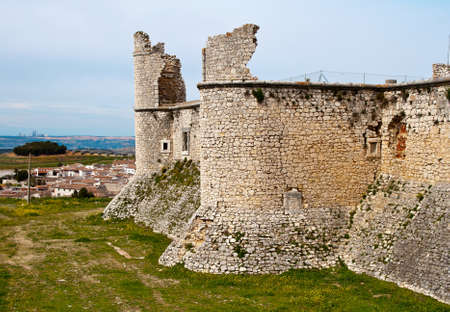 xv century: View of castle of the Counts XV century in Chinchon near of Madrid