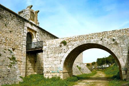 xv century: Drawbridge of castle of the Counts XV century in Chinchon near of Madrid Editorial