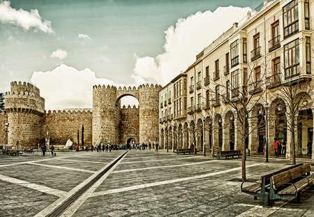 Cityskape of Castle of Avila, Castilla and Leon, Spain