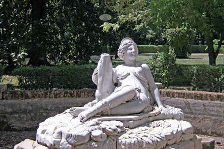 diana: Monument of Diana in the garden of Aranjuez Royal Palace Stock Photo